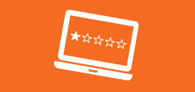 How can you manage a negative online review?